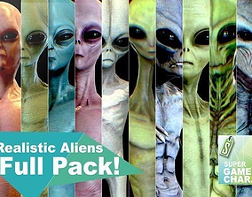3D asset Realistic Aliens Full Pack