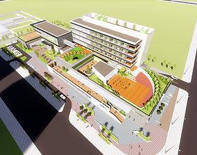 community activity center 3D model