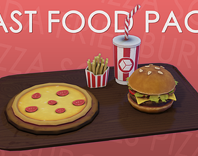 Fast Food Stylized Low-Poly Pack 3D asset realtime