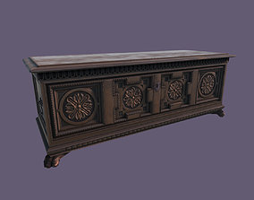 3D asset Old Medieval Gothic Chest