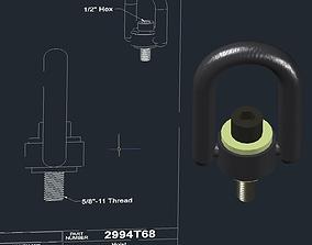 Hoist Ring McMaster Carr 3D
