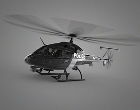 3D model game-ready Police Helicopter