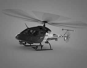 Police Helicopter 3D asset realtime