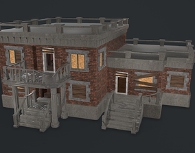 Post-apocalyptic Administrative Building w 3D model