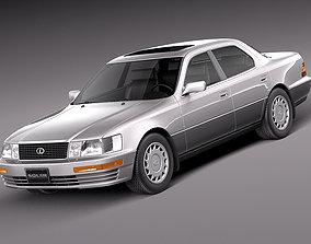 3D Lexus LS 400 1989-1994