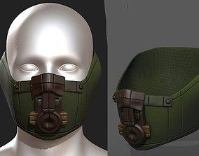 low-poly Gas mask respirator scifi futuristic 3d 1