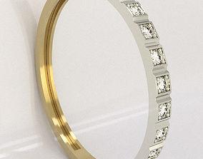 lady 3D printable model Earrings Ring