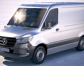 3D Mercedes-Benz Sprinter Short 2019