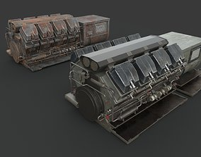 3D Machinery device Diesel-generator