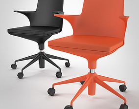 Black and Orange Hi Pad Chairs 3D model