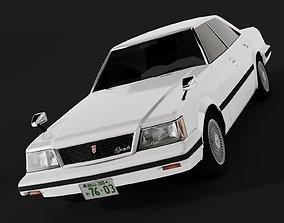 3D model game-ready Toyota Mark II GX61 HARDTOP