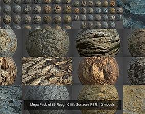 Mega Pack of 66 Rough Cliffs Surfaces PBR 3D