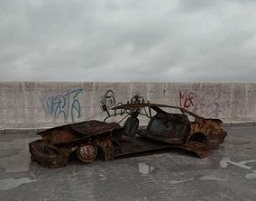 3D destroyed car 003 am165