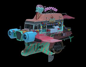 3D model realtime Flying Ice Cream Truck