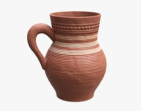 Ceramic jug vintage medium 3D