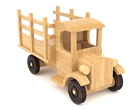 3D Wooden toy truck 11