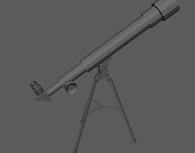 Telescope 3D asset game-ready