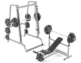 3D model Machine tools for the gym from BodySolid