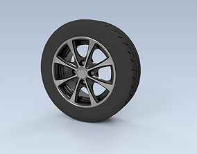 13 Inch Tire Rim Full Set 3D rigged