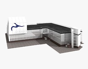 3D Sport Swimming School Building