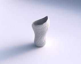 3D print model Vase vortex smooth with organic cells