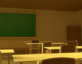 School Classroom 3D model