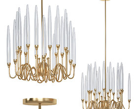 3D Lampatron Melvin Gold Led Chandelier