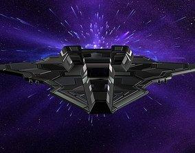 Hawk Fighter Spacecraft 3D model