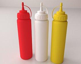 3D Sauce Bottles