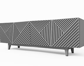 Credenza Table 3D model game-ready