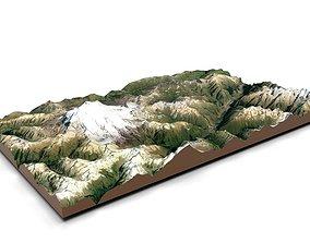 Mountain landscape 3D river