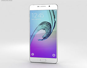 smartphone 3D model Samsung Galaxy A7 2016 White