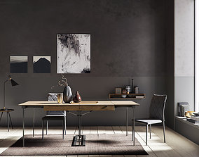 3D Grey Wall interior scene