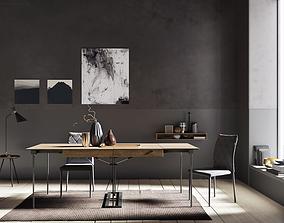 3D model Grey Wall interior scene