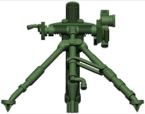 Mortar 3d print model weapon