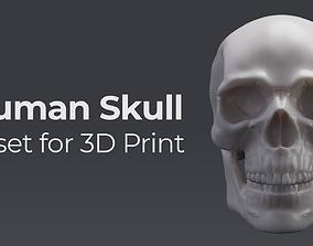 Human Skull - Asset for 3D Print