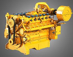 3D model G3412 Engine - V12 Industrial Diesel Engine