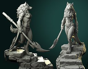 miniature Oleana the Werewolf Queen 3D printable model