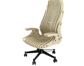 3D Cnc parametric office plywood chair