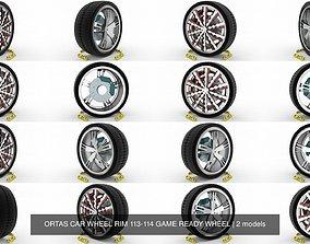 ORTAS CAR WHEEL RIM 113-114 GAME READY WHEEL 3D