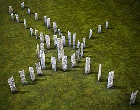 Callanish Stones 3D asset low-poly