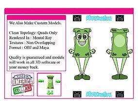 3D model Dollar Bill Man
