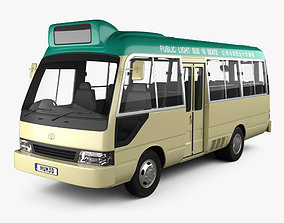 3D Toyota Coaster Hong Kong Bus 1995