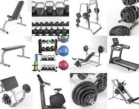 3D model Gym Equipment Set