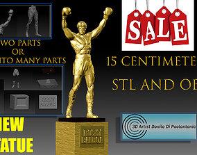 Rocky Balboa STATUE NEW Silvester Stallone STL and OBJ 3d