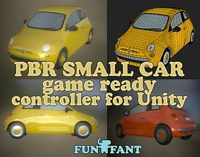 Game Ready Small Car PBR Low Poly 3D asset