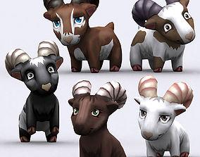 animated 3DRT - Chibii Goat