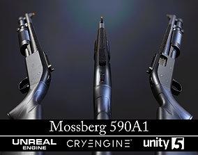 Modular Mossberg 590A1 - Textured - Game 3D model