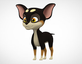 3D asset game-ready Chihuahua Puppy