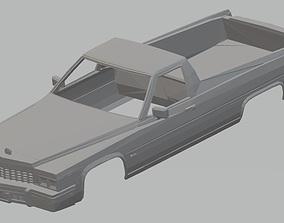 El Camino 1977 Printable Body Car